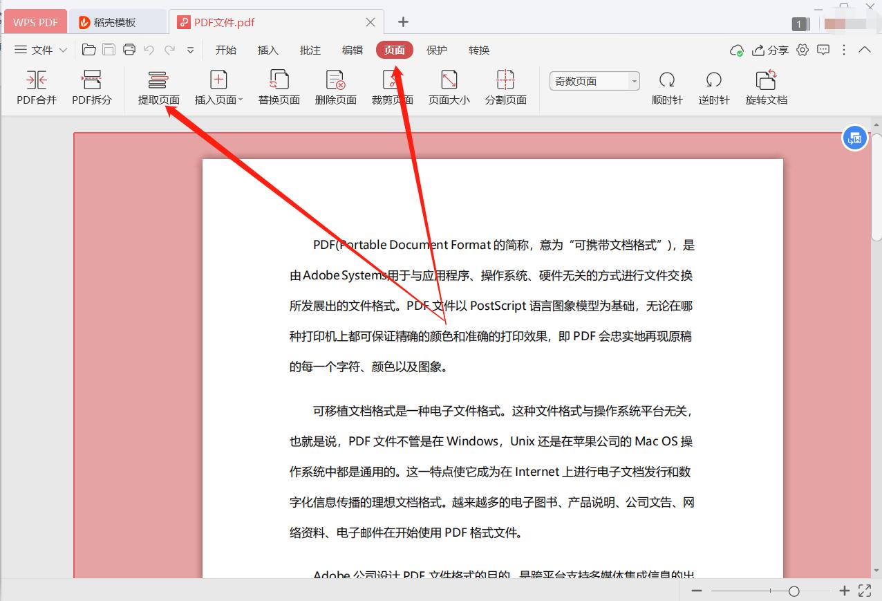 提取PDF页面