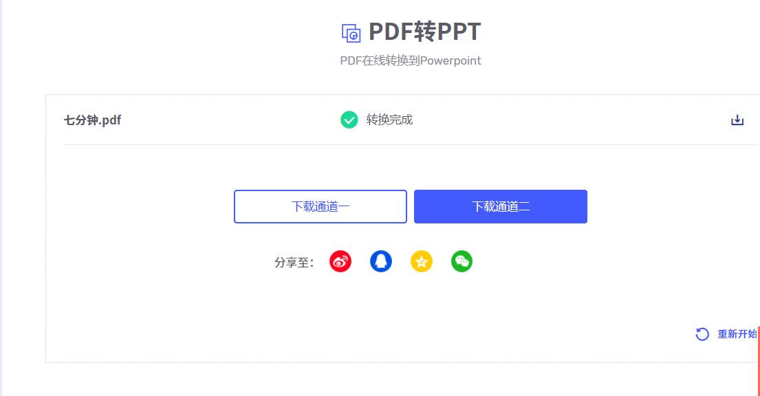 PDF文档转换成PPT