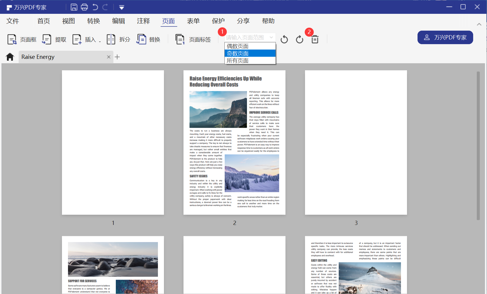 删除PDF的页面步骤3