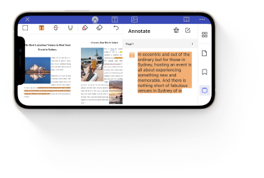 annotate pdf on iphone