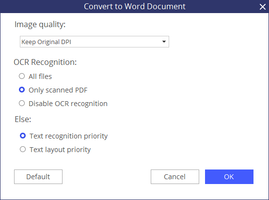 software to convert pdf to word