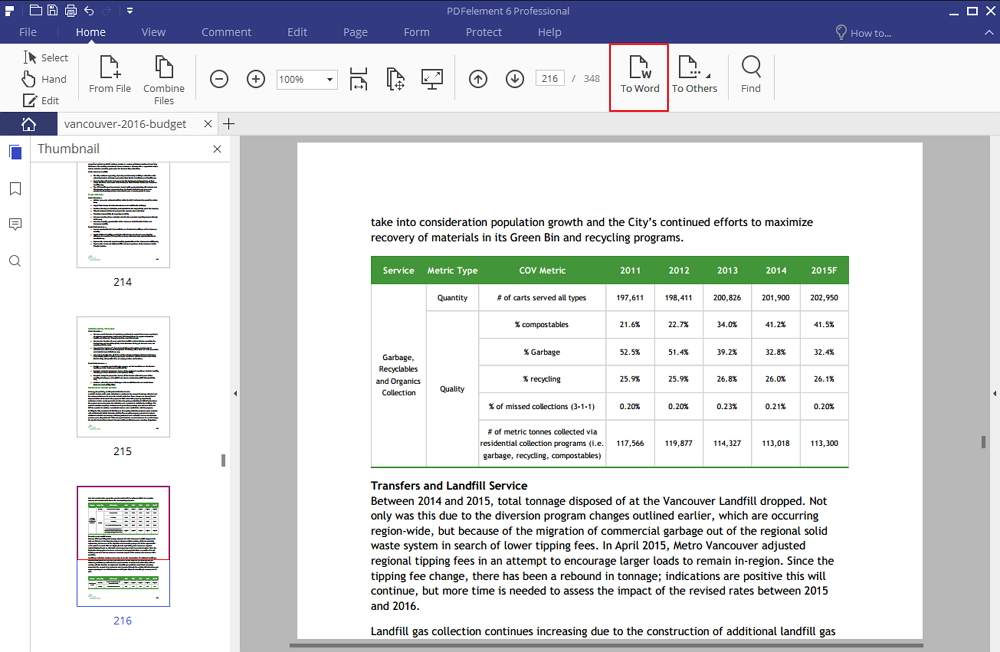 embed pdf in word