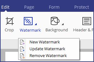 watermark in pdf