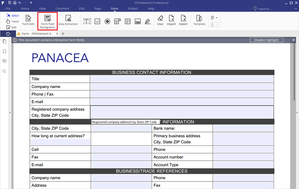 如何填写PDF表单