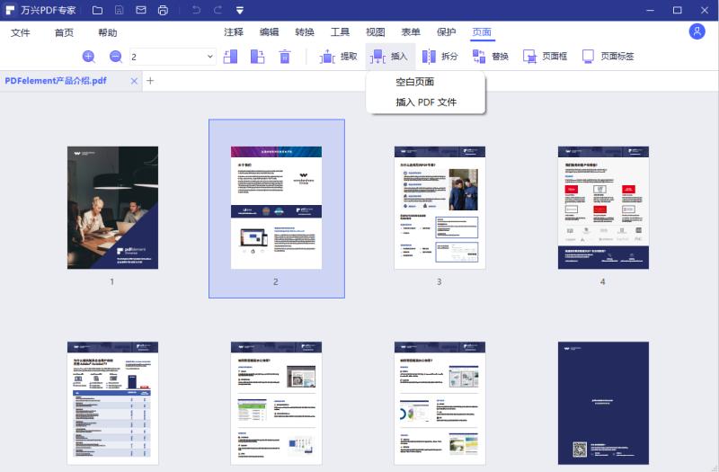 插入PDF页面