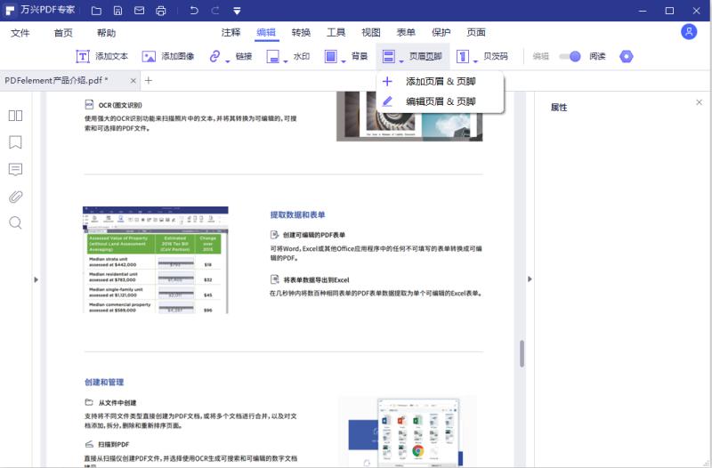 PDF页眉和页脚
